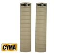 CYMA Polymer 20mm Rail Covers Set - Dark Earth Sale