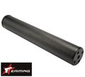 EAIMING Steel CNC Airsoft Silencer(180mm;1/2-28 TPI CCW)(Black)