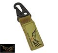 Flyye CORDURA Single Point Key Chain-Coyote Brown