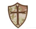 King Arms Seal 6 Crusader Cross Embroidery Patch