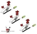 King Arms Switches Set for Ver.2 Gearbox(Rear Wiring,3 Pcs Bulk