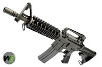 WE M4 CQB/R GBB Rifle(Open Chamber)(Extendable Stock)(Black)