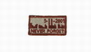 "Funny Velcro Patch - "" NEVER FORGET 9-11-2001 "" Brown/TAN Small"