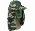 WW2 Woodland Camouflage Hat with long neck Flap - WC