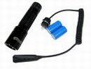Police/SWAT Tactical Flashlight+Pressure Switch+Re-Cell