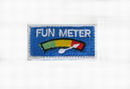 "Funny Velcro Patch - "" FUN METER "" White Small"