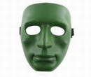Human Man Full Face Hard Plastic Mask - Olive Drab OD