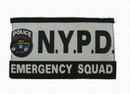 N.Y.P.D. POLICE EMERGENCY SQUAD Velcro Patch - 135x80mm