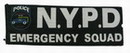 N.Y.P.D. POLICE EMERGENCY SQUAD Velcro Patch - 230x80mm