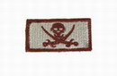 "Funny Velcro Patch - "" Pirate "" Brown/TAN Small"