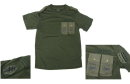 US Army KFOR / KIOP Seal &AIRBORNE Patch Short Shirt -OD83604