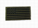 US Flag Velcro Patch - Black / Olive Drab Large