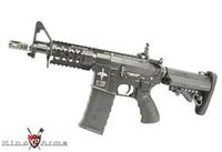 King Arms Metal M4 Tanker Rifle AEG with CAA Magazine (Black)