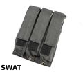 SWAT Nylon MP7 Molle Triple MagPouch (Black)