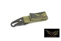 Flyye CORDURA Single Point Key Chain- Ranger Green