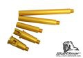 Warbear Metal Outer Barrel Set for M4 AEG/WA M4 GBB (Shine Gold)