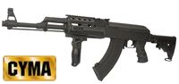 CYMA AK47 Tactical Rifle AEG w/ M4 Stock (CM.028C,Black) Special