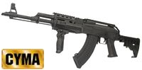 CYMA Metal AK47 Tactical Rifle AEG w/ M4 Stock (CM.039C, Black)