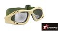 EAIMING Airsoft  No Fog Metal Mesh Goggle Glasses – Coyote Brown