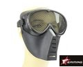 EAIMING Airsoft Full Face No Fog Metal Mesh Mask – Black