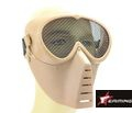 EAIMING Airsoft Full Face No Fog Metal Mesh Mask – Coyote Brown