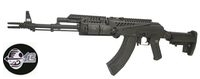 Jing Gong Metal AKM Assault Rifle with X47 Rail & M4 Stock (BK)