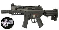 Jing Gong Metal Frame M5K SMG AEG with M4 Rear Stock (Black)