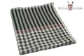 King Arms Lattice Polyester Cotton Vietnam Scarf (BLACK X WHITE)