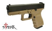 Stark Arms  Metal Slide S19 Semi / Full Auto GBB Pistol (Tan)