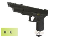 HK3 Metal Slide XDM .40 4.5 GBB Pistol IPSC Version (Black)