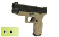 HK3 Metal Slide XDM .40 4.5 GBB Pistol with marking (Tan)