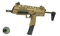 WE SMG-8 GBB ; A&K PKM Real Wood AEG ; WE BULLDOG Px4 GBB WE-GBB-SMG-8-TAN-1