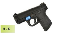 HK3 Metal Slide M&P9 Compact GBB Pistol with Marking (BK)