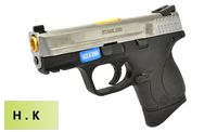 HK3 Metal Slide M&P9 Compact GBB Pistol with Marking (SV, BK)