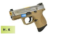 HK3 Metal Slide M&P9 Compact GBB Pistol with Marking (SV, Tan)