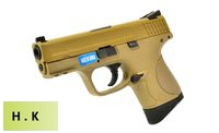 HK3 Metal Slide M&P9 Compact GBB Pistol with Marking (Tan)