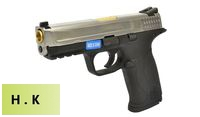 HK3 Metal Slide M&P9 GBB Pistol with Marking (Silver, Black)