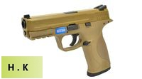 HK3 Metal Slide M&P9 GBB Pistol with Marking (Tan)