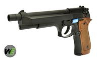 WE Metal M92F GBB Pistol with Long barrel & Extended Grip (BK)