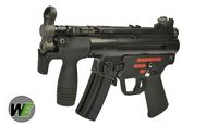 WE Stamped Steel Frame APACHE M5K SMG GBB (Black)