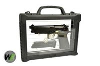 WE Metal New System M9A1 GBB Pistol Semi&Auto Ver (w/ Case, BK)