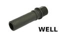 WELL Metal Muzzle for Well R2 VZ61 AEG(black)