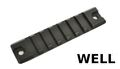 Well Metal Small Rail for Well R4 MP7A1 SMG AEG (Black)