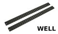 Well Metal Long Top Rail 2pcs for Marui MP7/ WELL R4 AEG(Black)