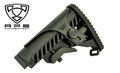APS Battle Tele Style Stock w/ Cheek Rest for M4/M16 AEG (Black)