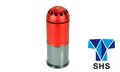 SHS Metal 120 rounds 40mm Gas Grenade (Red + Grey)