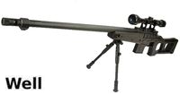 WELL MB4409D Air-cocking Sniper Rifle w/ Scope & Bipod (Black)