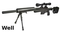 WELL MB4410D Air-cocking Sniper Rifle w/ Scope & Bipod (Black)