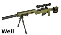 WELL MB4410D Air-cocking Sniper Rifle w/ Scope & Bipod (OD)