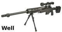 WELL MB4411D Air-cocking Sniper Rifle w/ Scope & Bipod (Black)